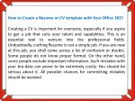 how to create a resume or cv template with your