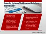 security features that payment solutions should have