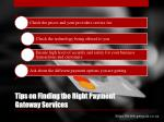 tips on finding the right payment gateway services