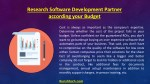 research software development partner according
