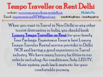 tempo traveller on rent delhi website 5