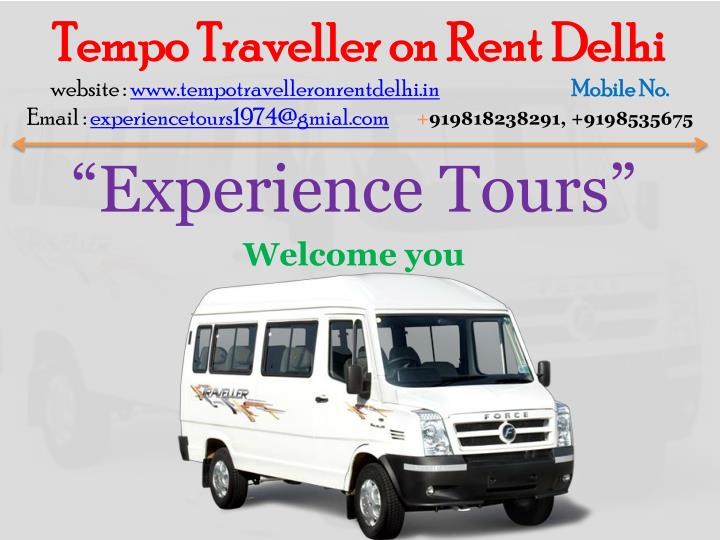 tempo traveller on rent delhi website n.