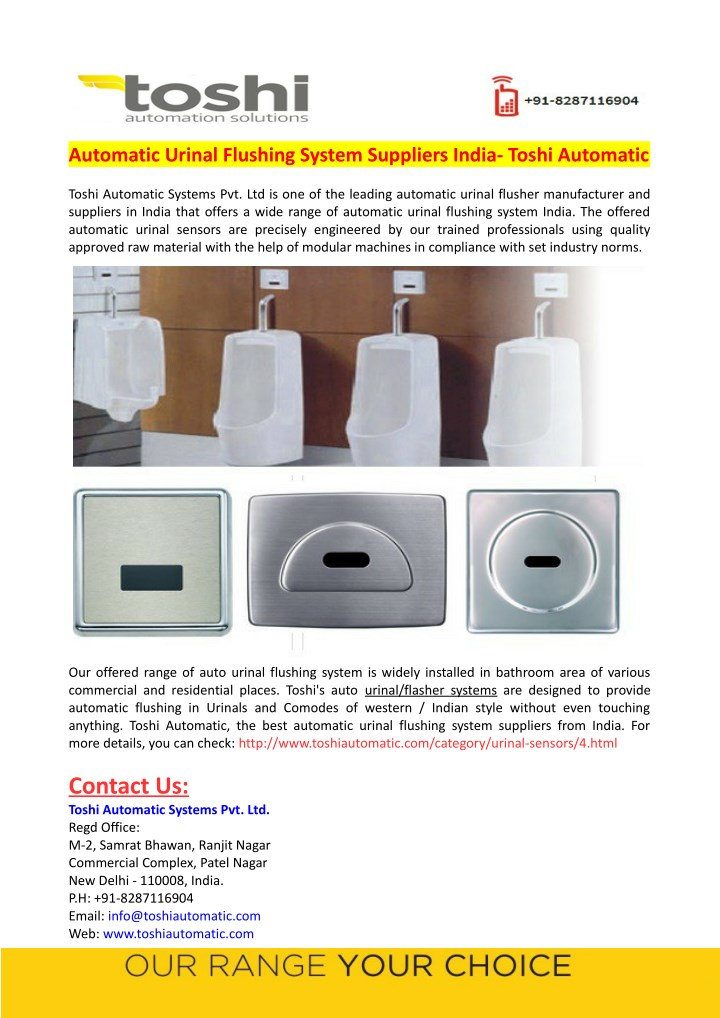 automatic urinal flushing system suppliers india n.