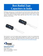 best radial type capacitors in india