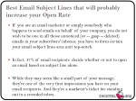 best email subject lines that will probably