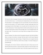 the citizen eco drive chronograph tachymeter
