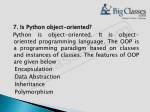 7 7 is is python python oriented programming