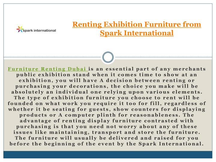 renting exhibition furniture from spark international n.