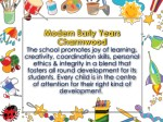 modern early years charmwood the school promotes
