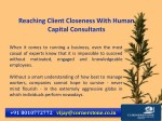 reaching client closeness with human capital 1