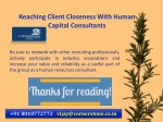 reaching client closeness with human capital 12