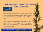 reaching client closeness with human capital 3