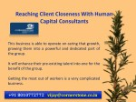 reaching client closeness with human capital 4
