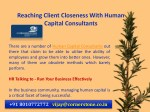 reaching client closeness with human capital 5