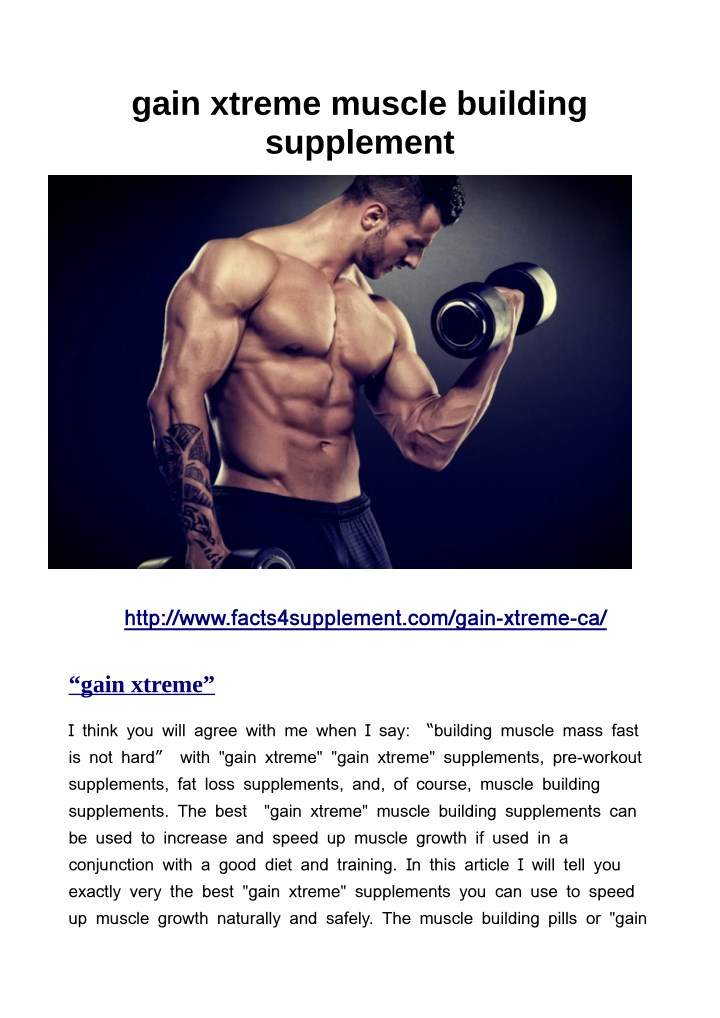 gain xtreme muscle building supplement n.