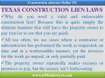texas construction lien laws