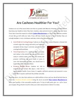 are cashews healthier for you