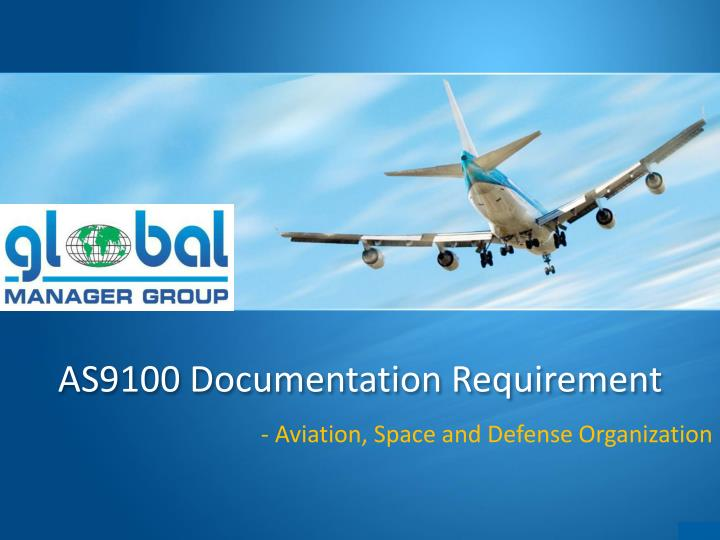 as9100 documentation requirement n.