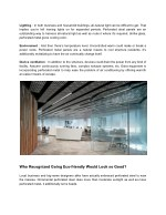 lighting in both business and household buildings