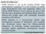 apps interface bvbi infotech