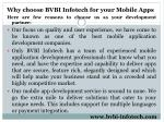 why choose bvbi infotech for your mobile apps