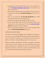 solar lighting just uses free power from