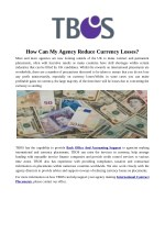 how can my agency reduce currency losses