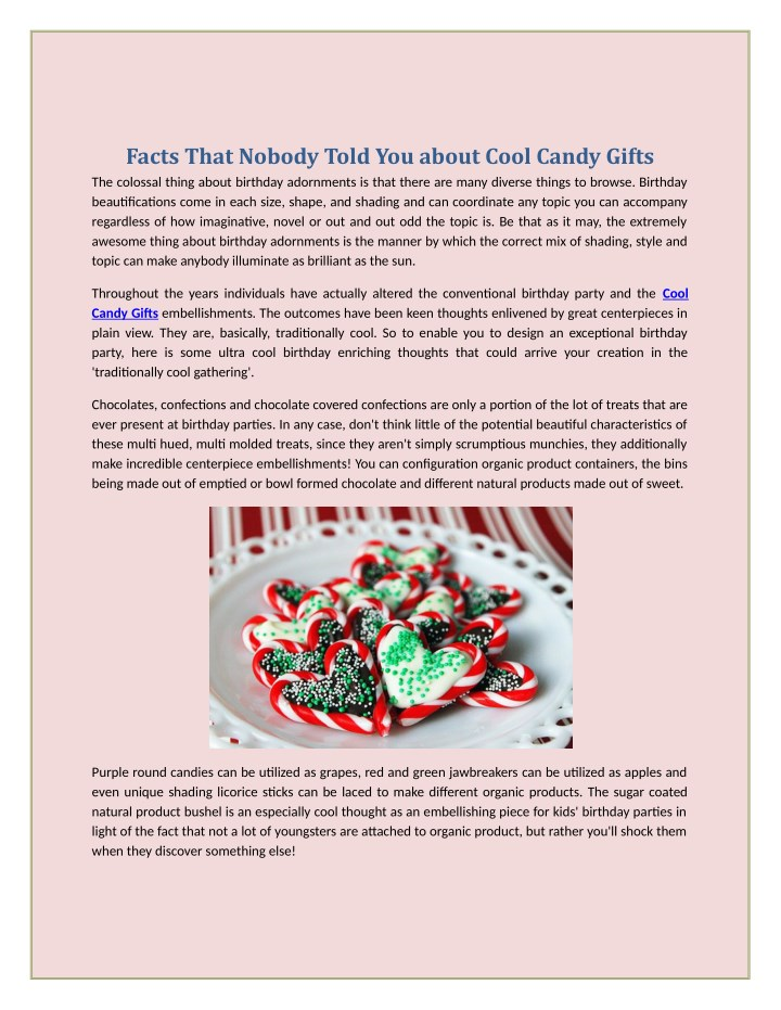 facts that nobody told you about cool candy gifts n.