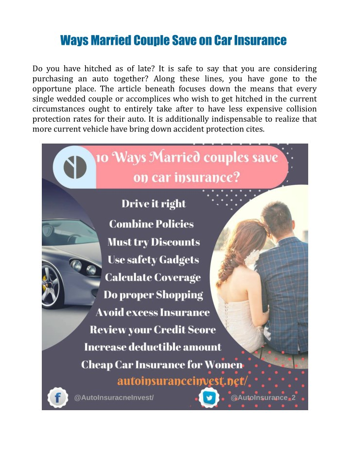 ways married couple save on car insurance n.