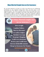 ways married couple save on car insurance