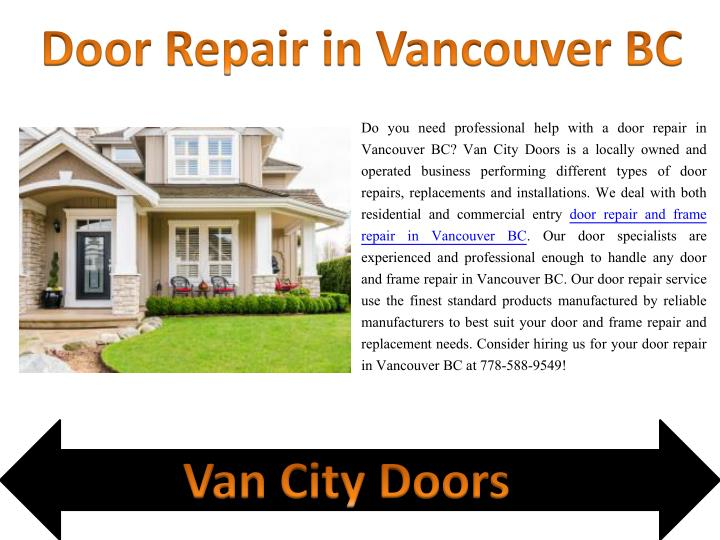 door repair in vancouver bc n.