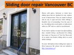 sliding door repair vancouver bc