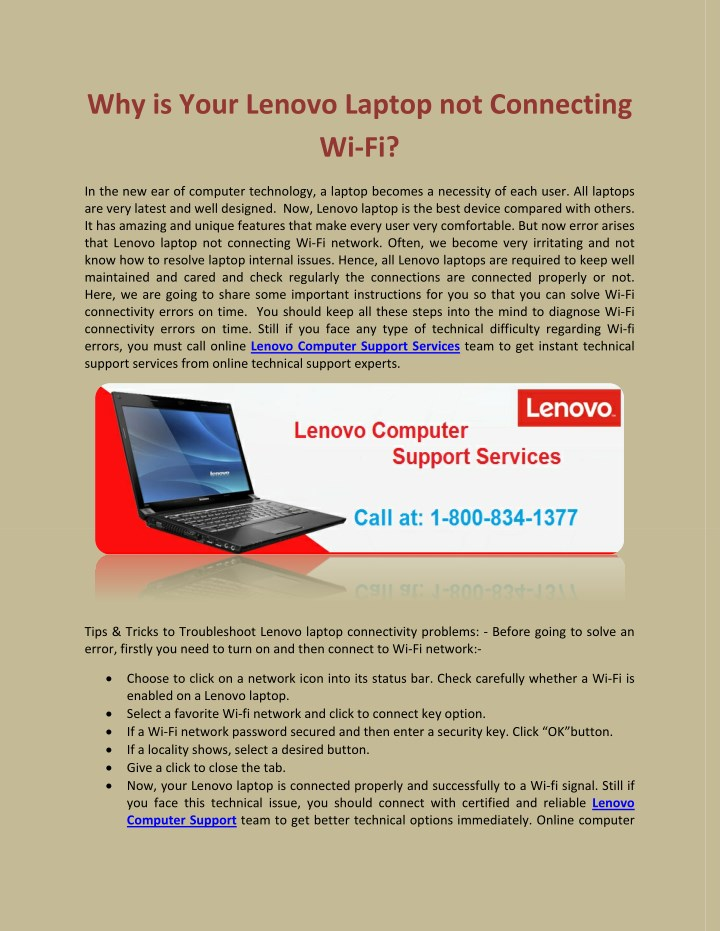 why is your lenovo laptop not connecting wi fi n.