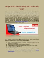 why is your lenovo laptop not connecting wi fi