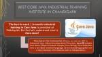 best core java industrial training institute