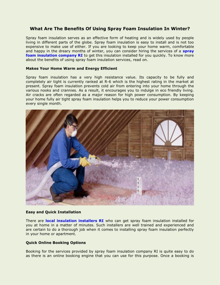 what are the benefits of using spray foam n.