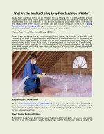 what are the benefits of using spray foam