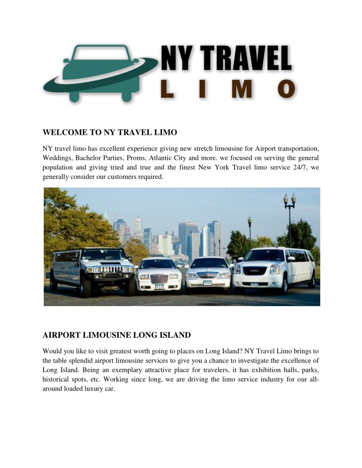 welcome to ny travel limo n.