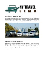 welcome to ny travel limo