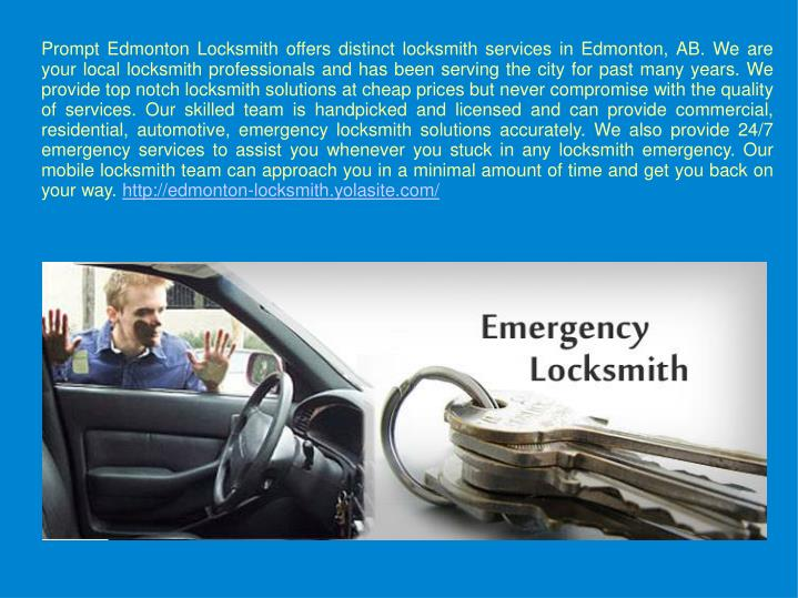 prompt edmonton locksmith offers distinct n.