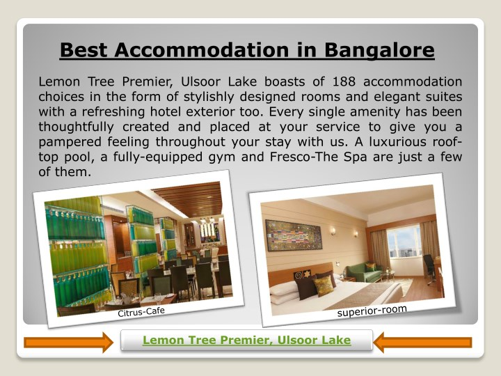 best accommodation in bangalore n.