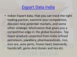 export data india