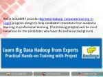 kvch academy provides big data hadoop corporate