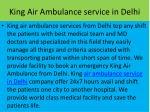 king air ambulance service in delhi