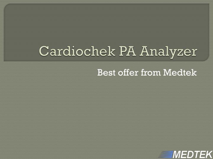 cardiochek pa analyzer n.