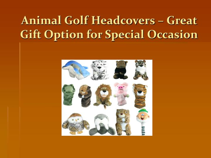animal golf headcovers great gift option for special occasion n.