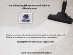 local cleaning efforts across all suburbs 1