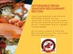 affordable fresh seafood restaurant milton