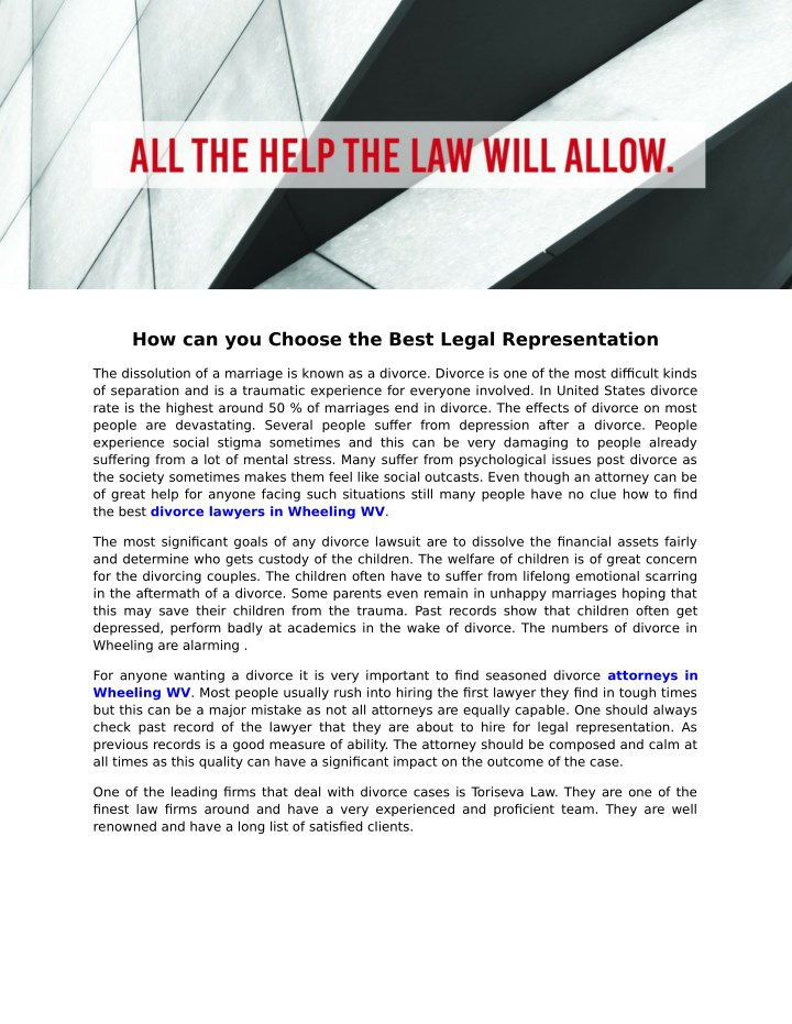 how can you choose the best legal representation n.
