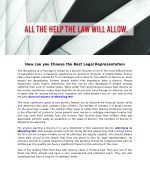 how can you choose the best legal representation